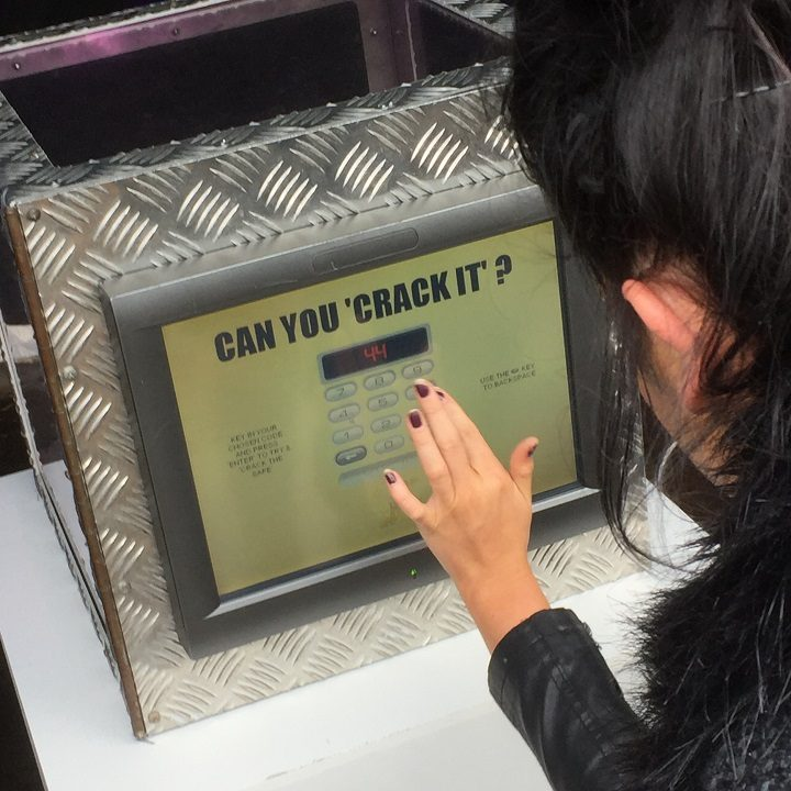 One Preston woman tries her luck at cracking the safe code