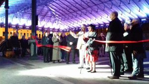 Moment the restored Markets canopy is declared open