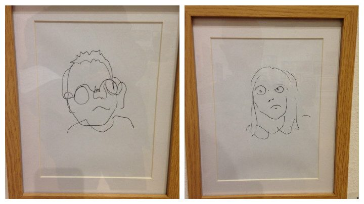 These drawings are by an eight-year-old