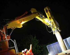 Piling work is taking place at Euxton Junction