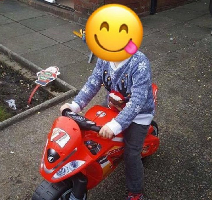Joshua, identity protected, had been riding the new toy for Christmas Day