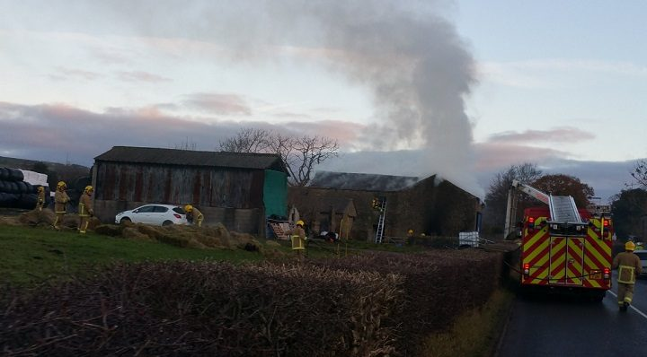 Smoke could be seen for miles around following the fire Pic: Preston Fire Station
