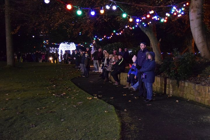 Watching the St Catherine's Hospice Christmas Lights go on