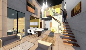 Inside the proposed hotel in the Guild Tower