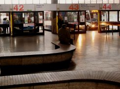Buses are going from different stands during the refurb work in the Bus Station Pic: 70023venus2009