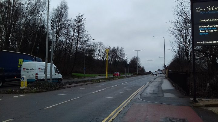 One of the average speed cameras now up in London Road