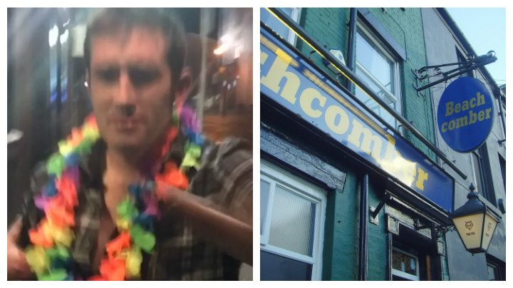 Police want to speak to this man following an attack in Beachcomber bar