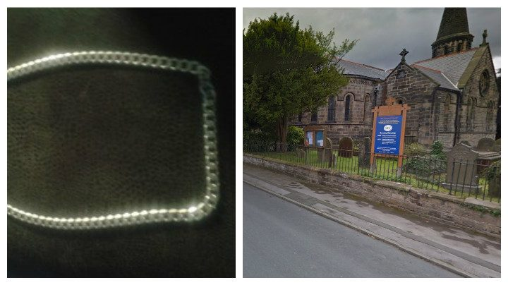 The chain taken during the robbery which happened close to St Saviour's Church Pic: Google