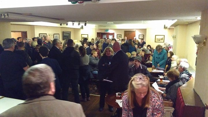 Inside the Gregson Lane meeting Pic: Paula Beazley