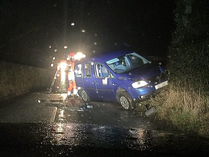 The car being taken away after the crash near Grimsargh Pic: LancsRoadPolice