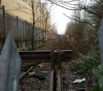 More of the old railway line becoming clear near the West View Leisure Centre