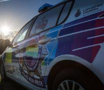 The new Pride police car