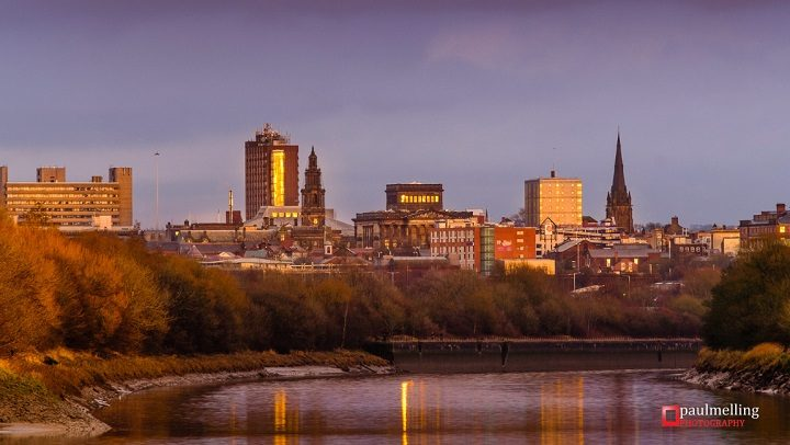 Skyline of Preston catches a golden glow Pic: Paul Melling