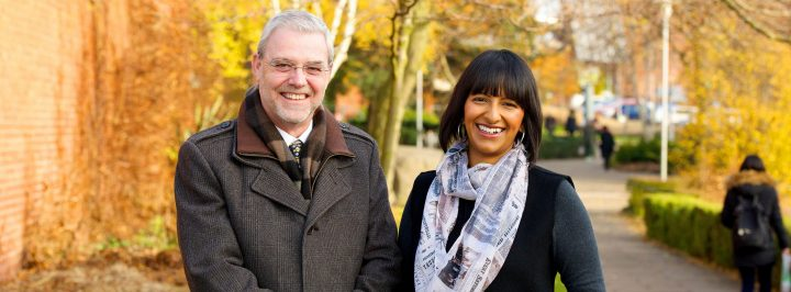 Professor Mike Thomas and presenter Ranvir Singh