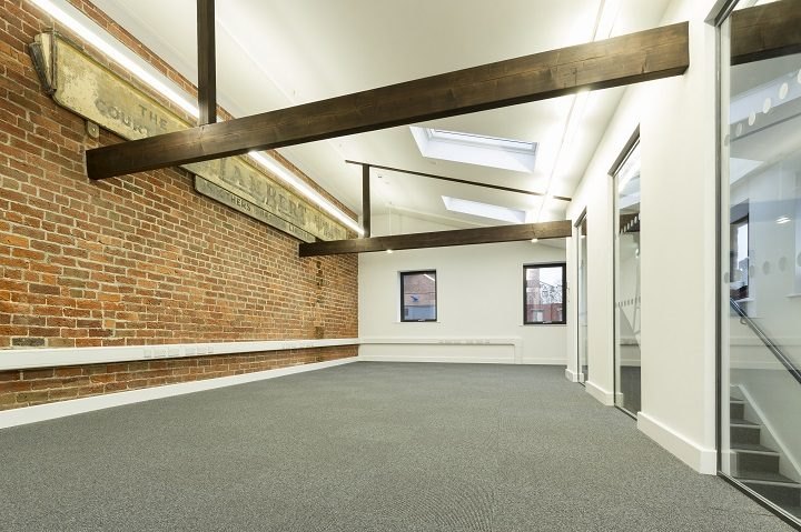 The top floor retains some of the distinctive features of the printing press