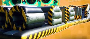 One of the inflatables children can play on at Wacky World
