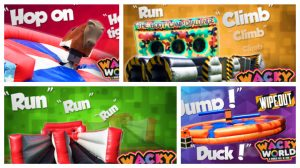 Some of the rides available at Wacky World