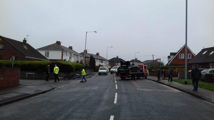 Police on the scene in Woodplumpton Road
