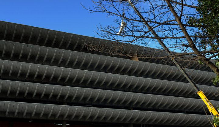 Crane at work at Preston Bus Station Pic: Tony Worrall