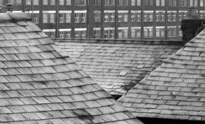 Icy rooftops in Preston Pic: Tony Worrall