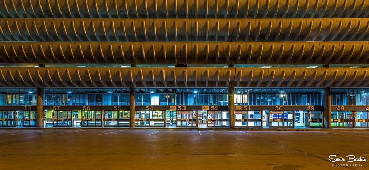Preston Bus Station at night Pic: Sonia Bashir
