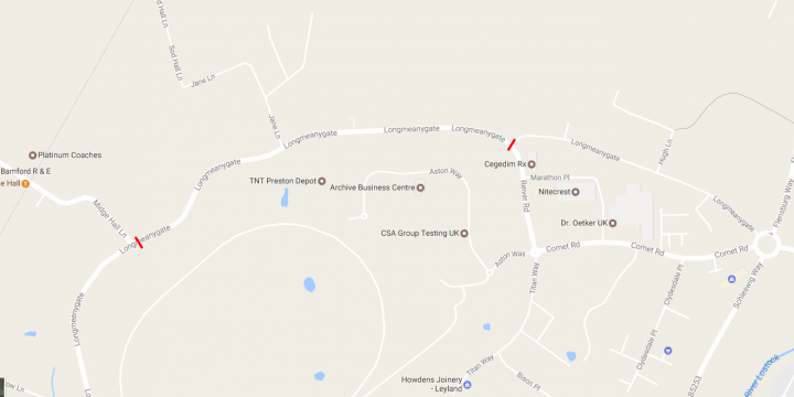 Where the road closure is in place Pic: Google