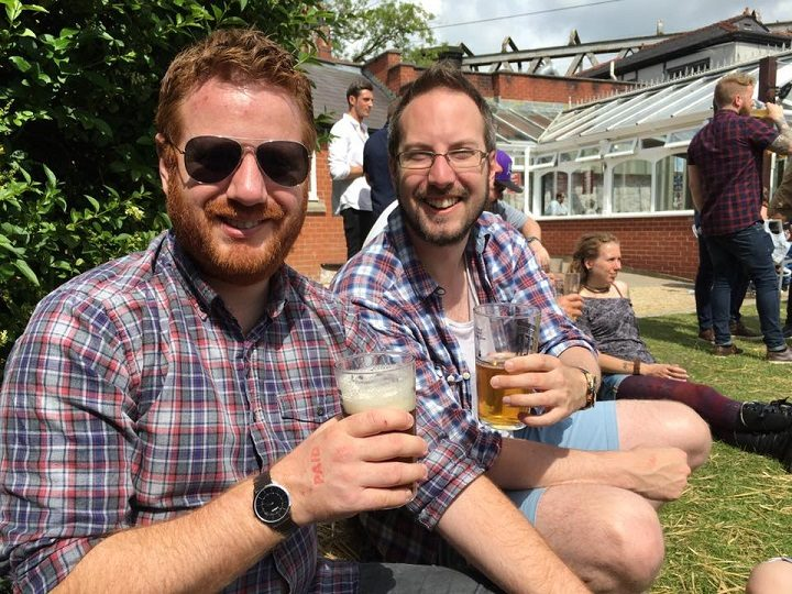 Soaking up the sun at last year's Conti beer festival