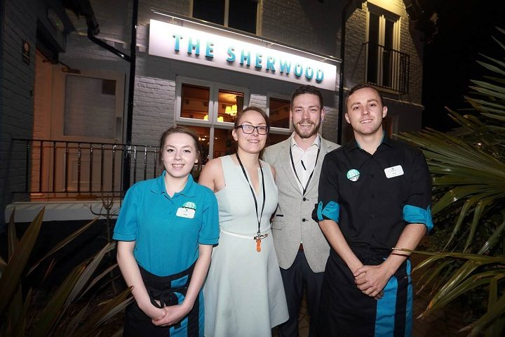 Gemma Reeve, second from left, with her team at The Sherwood
