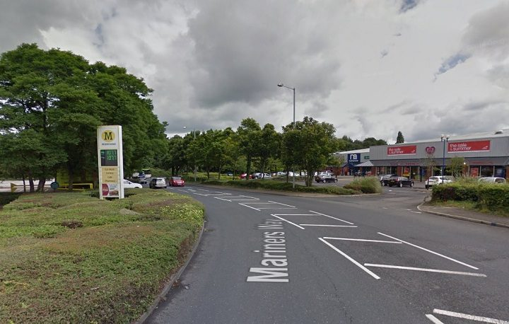 The incident happened near to Mothercare and Morrisons Pic: Google