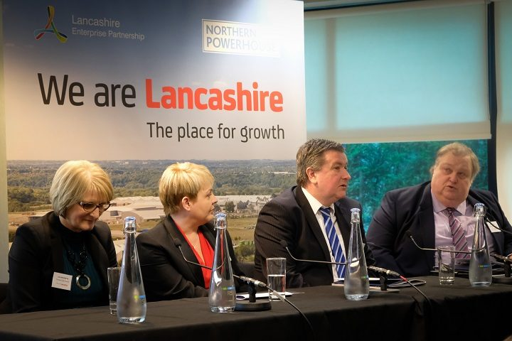 Lorraine Norris, far left, chief executive of Preston City Council and Simon Rigby, far right, the owner of Preston Guild Hall joined the debate