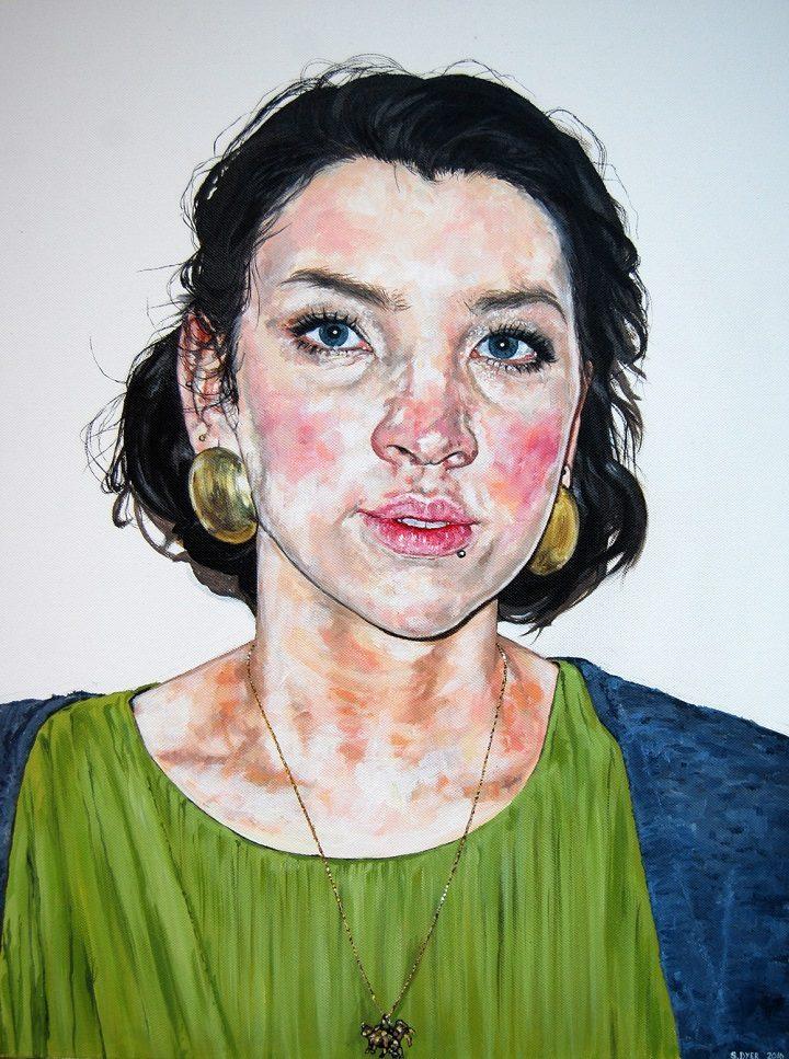 Self-portrait of Sally Dyer