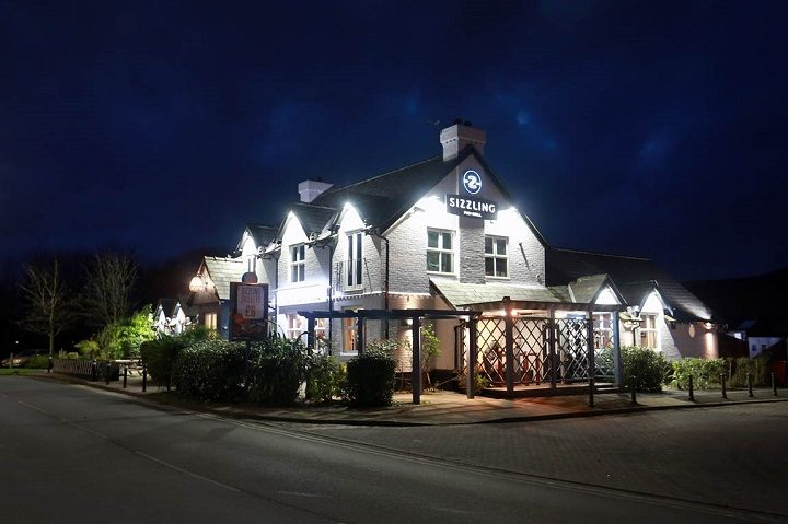 The Sherwood at night after the refurb
