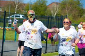 Runners at last year's colourful run