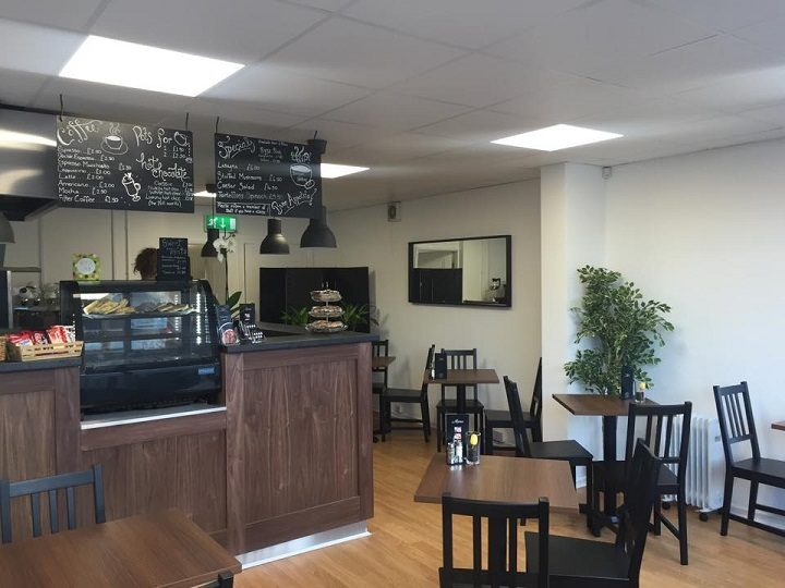 Inside the Volare cafe