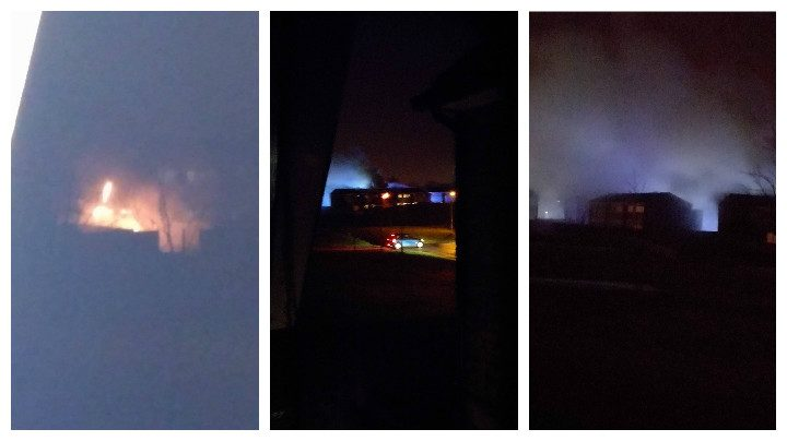 Scenes from Saturday night of the fire in Ingol Pic: William Fell
