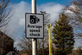 Average speed camera sign