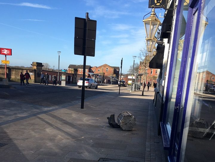 The scene in Fishergate on Friday morning Pic: jaingham123