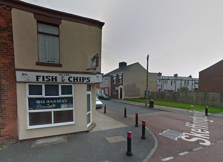 Bill and Ben's chippy on the corner of Maitland Street and Skeffington Road Pic: Google