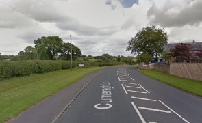 The crash happened where Back Lane meets Cumeragh Lane Pic: Google