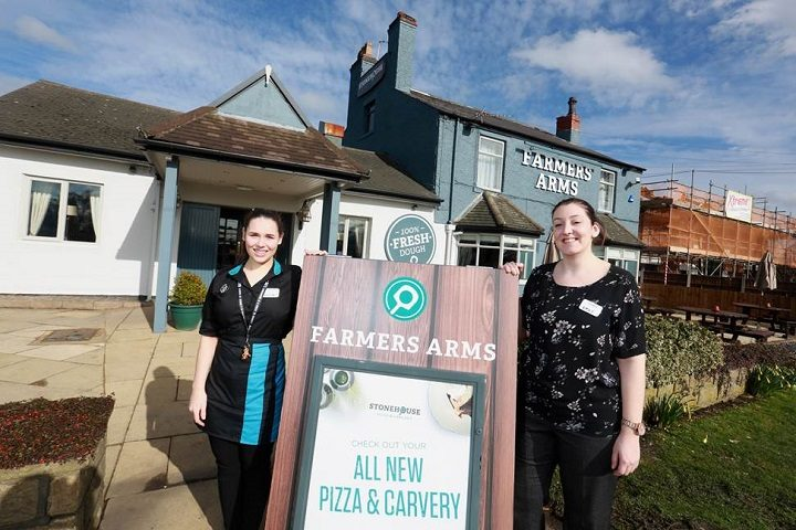 Farmers Arms Team Leader, Elysia Wright, and general manager, Emily Spedding