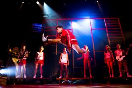 Footlose the musical being performed