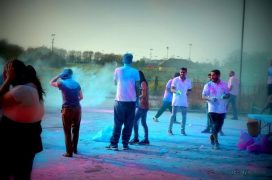 Last year's Holi festival event