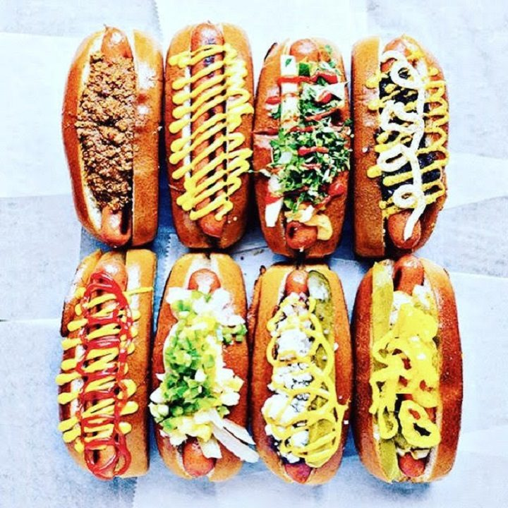 Some of the hot dogs on offer