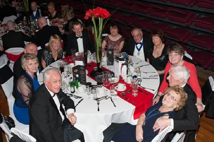 Guests enjoying themselves at a previous Mayor's ball
