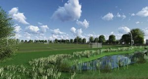 The new outdoor pitches