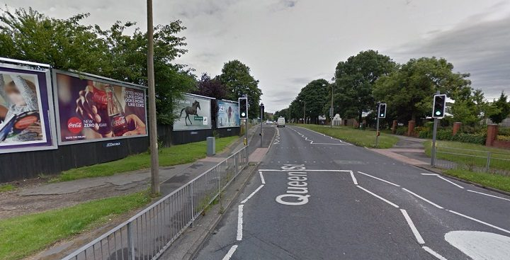 Where the attack happened at the pedestrian crossing in Queen Street Pic: Google