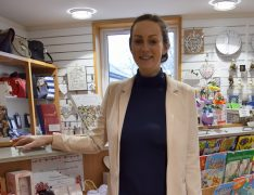 Rachel Hewitt in one of the St Catherine's Hospice shops