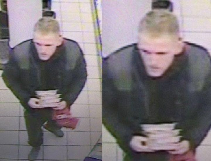 Pictures of the man police want to speak to in connection with the incident