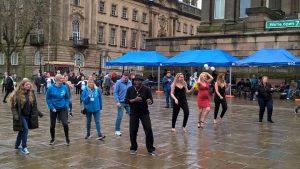 Salsa dancing on the Flag Market