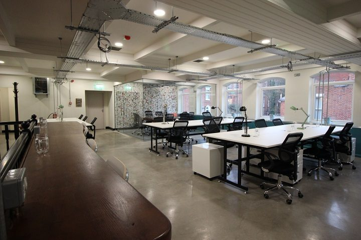 The offices are set over three floors